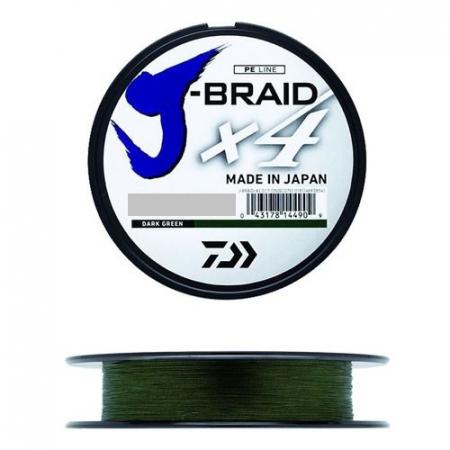 LINHA MULT. 4X J-BRAID 0.25MM 30LBS 135M VERDE