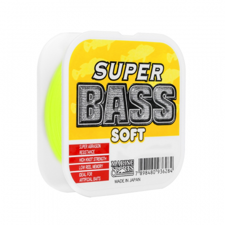 LINHA MON. SOFT SUPER BASS 0.37MM 21LBS 250M YELLOW