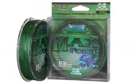 LINHA MULT. 8X MAX FORCE PE 0.45MM 300M VERDE