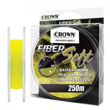 LINHA MON. FIBER SOFT 0.37MM 250M YELLOW
