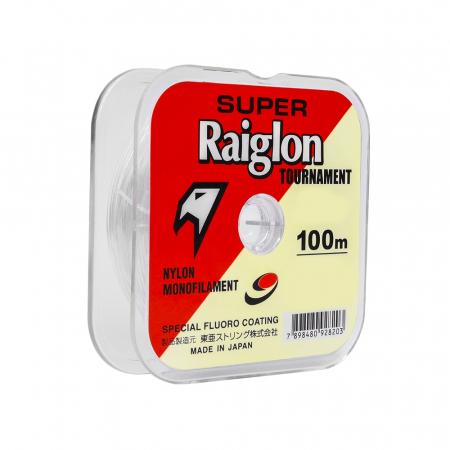 LINHA MON. S. RAIGLON BRANCA 0.18MM 100M TOURNAMENT