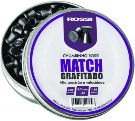 CHUMBINHO ROSSI MATCH GRAFITADO 5,5MM 250UN